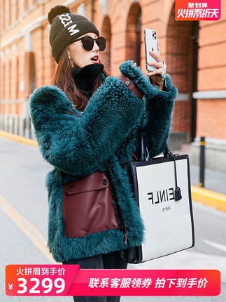 Lan Jue 2019 autumn and winter new imported Tuscany fur one coat female short fur coat 98220